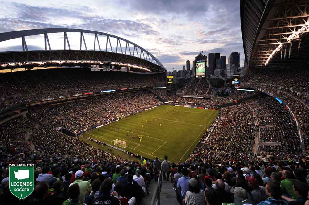 A record soccer attendance  for the Pacific Northwest (67,052) sees the friendly between Sounders FC and Manchester United. (Sounders FC photo)