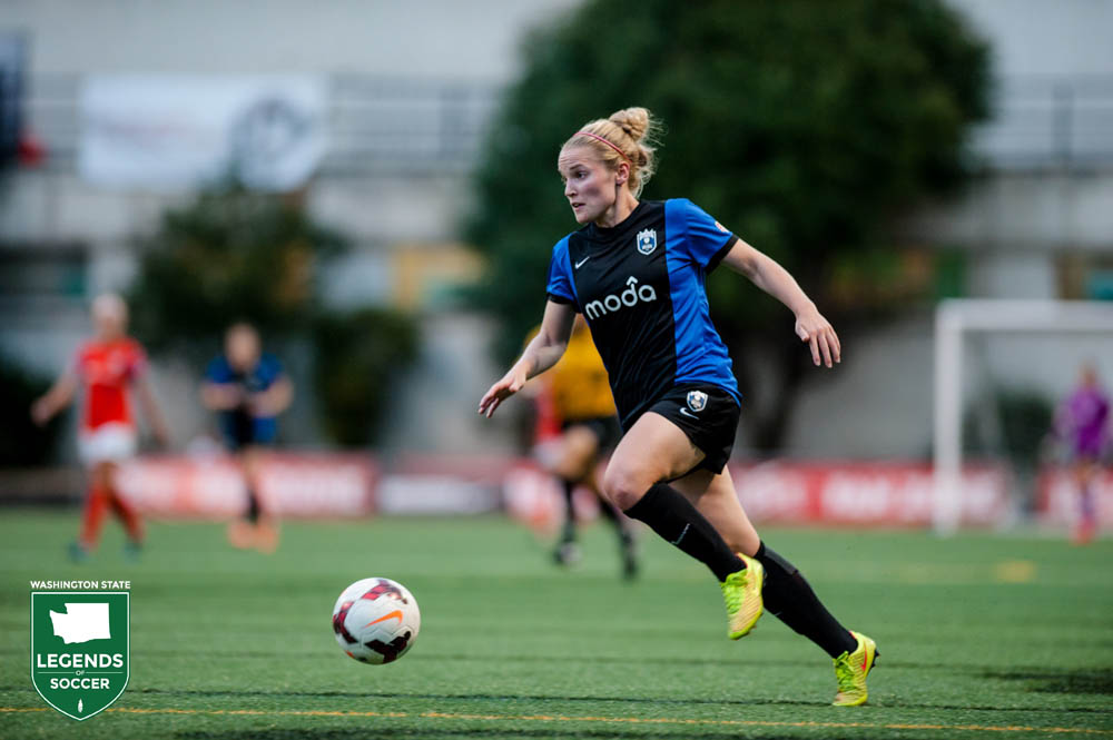 Kim Little makes a big impression in her first season with Seattle Reign FC, winning NWSL MVP and Golden Boot honors. (Jane Gersovich photo)