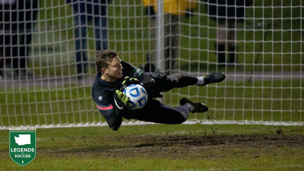 Spencer Richey's penalty kick saves push Washington into the NCAA Round of 16. (UW Athletics photo)