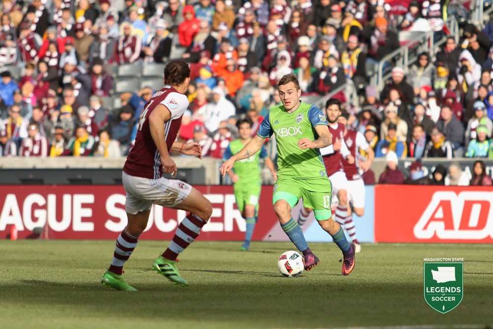 Jordan Morris scored to win the second leg of the Western Conference final, 1-0, at Colorado and clinch the series, 3-1 on aggregate. (Courtesy Sounders FC)