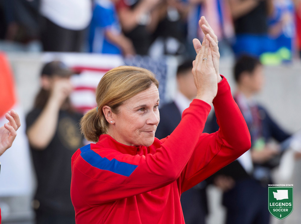U.S. National Team coach Jill Ellis delivered the keynote speech at Washington Youth Soccer's 50th Anniversary Gala, 9/9/2016.