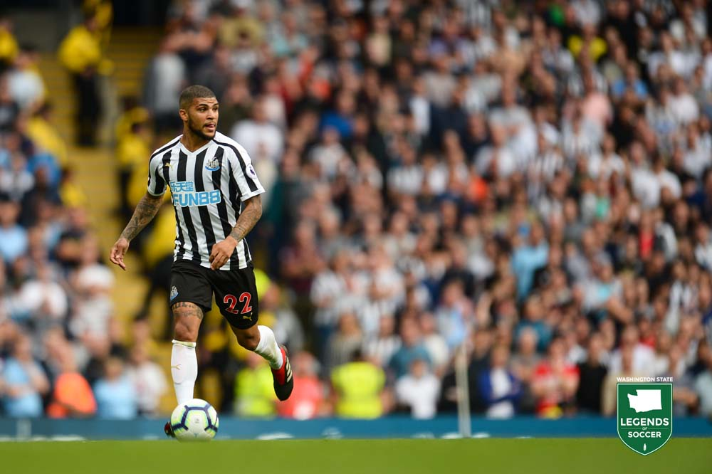 DeAndre Yedlin moved from Tottenham to newly-relegated Newcastle for 2016/17. Yedlin helped the Magpies win the Championship and return to the Premiership. (Courtesy Newcastle United FC)