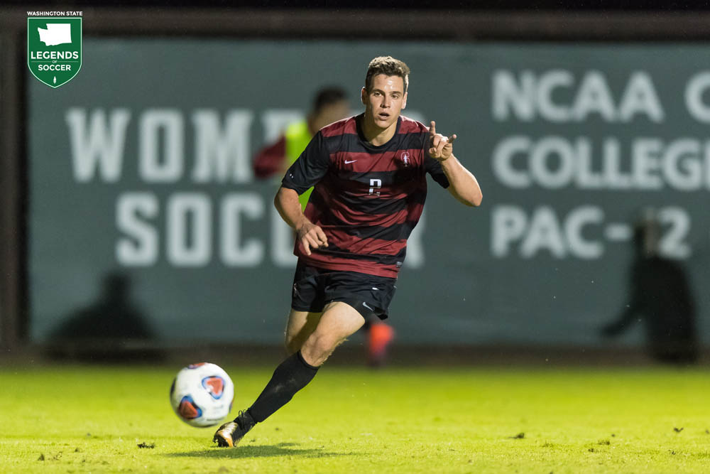 Vancouver's Foster Langsdorf led defending champion Stanford back to the NCAA College Cup with 15 goals as a junior. Langsdorf was voted All-American and Pac-12 co-player of the year. The Cardinal succumbed to Wake Forest on penalties in the final. (Courtesy Stanford Athletics)