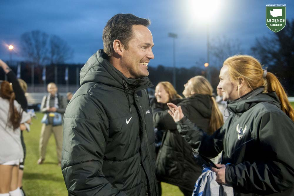 Western Washington's coaching staff, led by head coach Travis Connell, was named 2016 NSCAA Division II Women's National Staff of the Year.  Jamie Arthurs, Claire Morgan and Joana Houplin served as the Vikings' assistants. (Courtesy Western Washington Athletics)