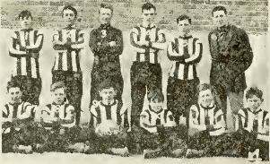 Located in the Hilltop neighborhood, Tacoma's McKinley School team in 1914. (Spalding Guide 1915)