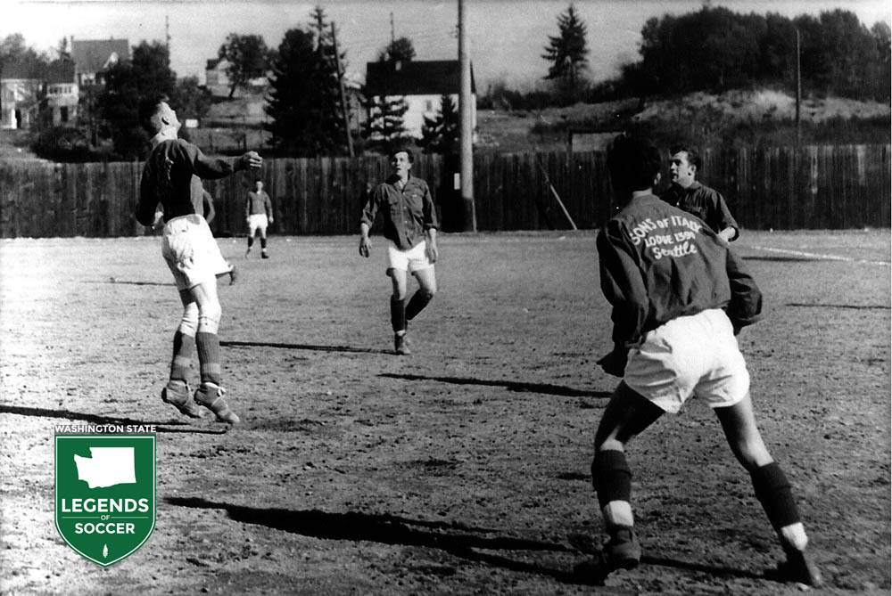 Seattle's Sons of Italy Lodge was among the ethnic organizations that would sponsor state league teams, this circa 1948.