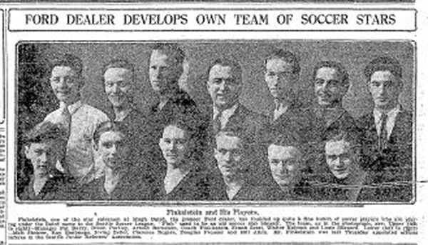 On the eve of Ford Motor Company replacing the Model T with the Model A in 1927, auto dealer Hugh Baird first sponsored a team in the Seattle Soccer League, made up of two youth divisions. (Courtesy Seattle Times)