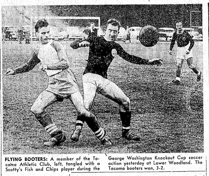 Tacoma and Scotty's, two teams that finished out of contention in league play, meet in a first-round knockout tie. (Courtesy Seattle Times)