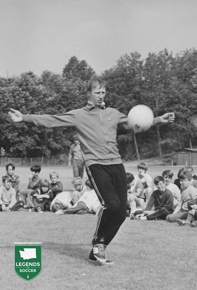 Leeds and England star Jackie Charlton was featured in summer youth clinics throughout King County.