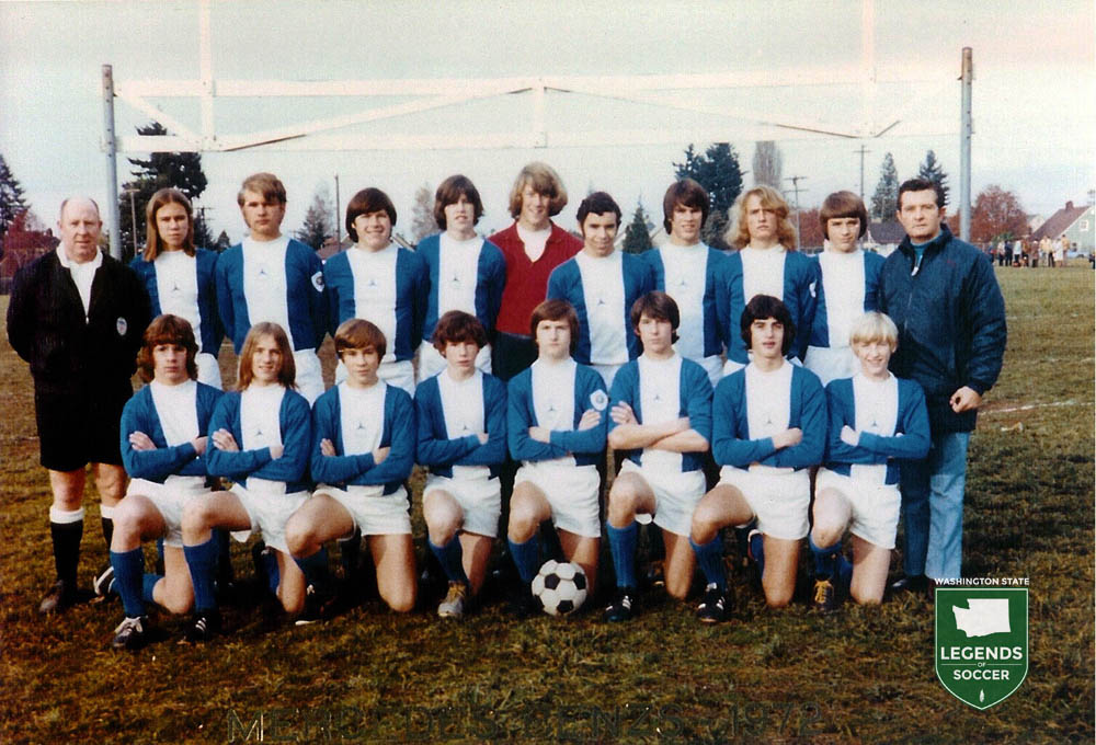 If Mike Ryan (far left) wasn't coaching the University of Washington or a state men's league club, he could likely be found doing so with a youth team such as Mercedes Benz.