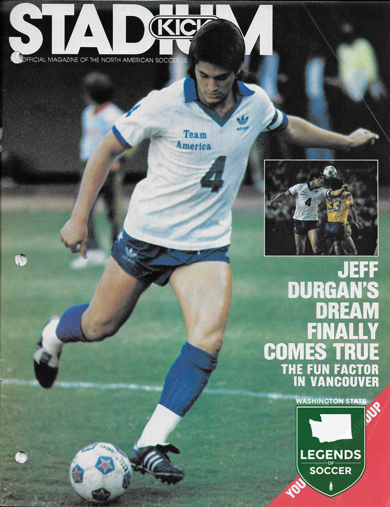 Tacoma's Jeff Durgan left the Cosmos for Team America and debuted for the USMNT in 1983.