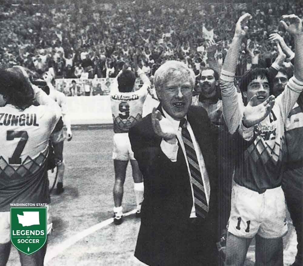 Steve Zungul, Preki and Alan Hinton had the Tacoma Dome crowds large and loud by the end of the club's third season.