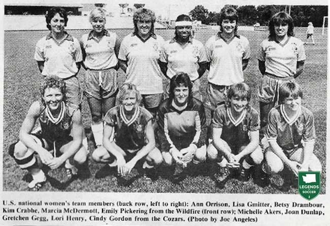 Five members of the 1986 U.S. National Team came from Tacoma's Cozars: Gretchen Gegg, Lori Henry, Joan Dunlop, Cindy Gordon and Michelle Akers.