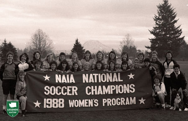 Pacific Lutheran proudly displays the first national championship won by a Washington state women's collegiate program.