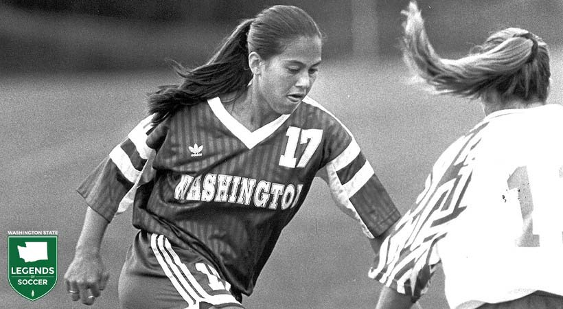 Melanie Jackson is one of the original Washington women's varsity members.