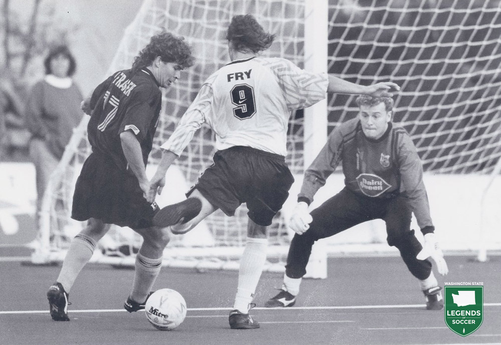 Chance Fry is loaded for goals. The Bellevue native scored 11 to lead the Sounders in 1994.