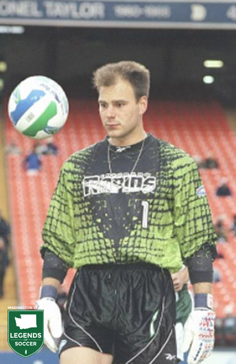 Former Seattle Pacific and Sounders keeper Marcus Hahnemann joins MLS and the Colorado Rapids in 1997.